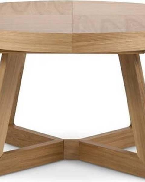 Windsor & Co Sofas Rozkládací stůl s nohami z dubového dřeva Windsor & Co Sofas Bodil, ø130cm