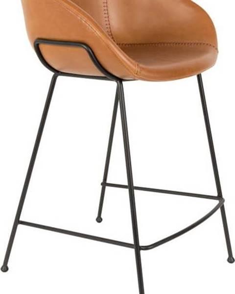 Zuiver Sada 2 hnědých barových židlí Zuiver Feston, výška sedu 76cm