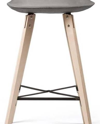 Barová židle s betonovým sedákem Lyon Béton Hauteville