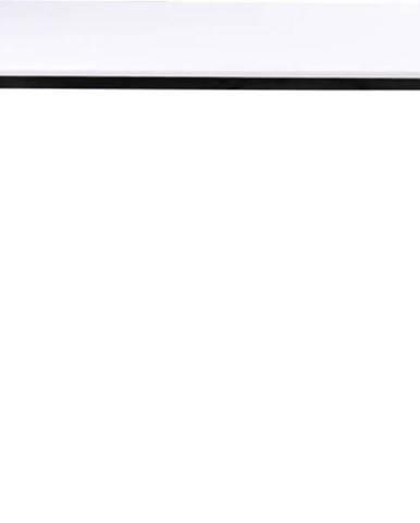 Bílý jídelní stůl s černou konstrukcí loomi.design Vojens, 120x70cm