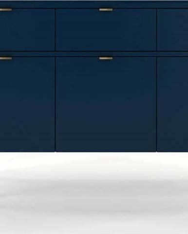 Komoda v námořnicky modré barvě Skandica Polka