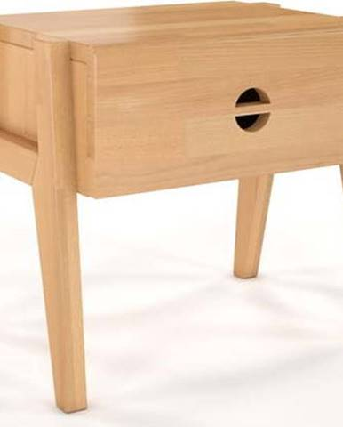 Noční stolek z bukového dřeva se zásuvkou Skandica Visby Radom