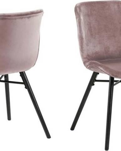 Pudrově růžová jídelní židle Actona Batilda