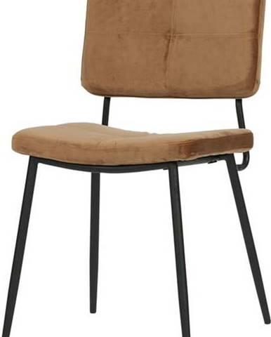 Sada 2 hnědých jídelních židlí WOOOD Kaat
