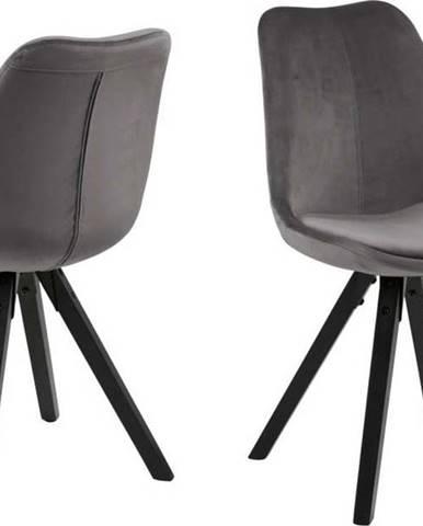 Šedá jídelní židle Actona Dima