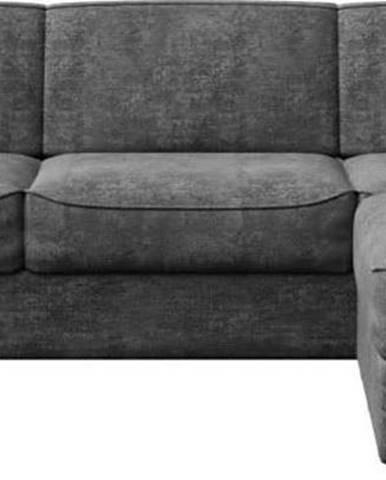 Tmavě šedá rozkládací pohovka s variabilní lenoškou MESONICA Munro, 308 cm
