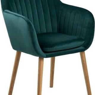Zelená jídelní židle Actona Emilia Vic