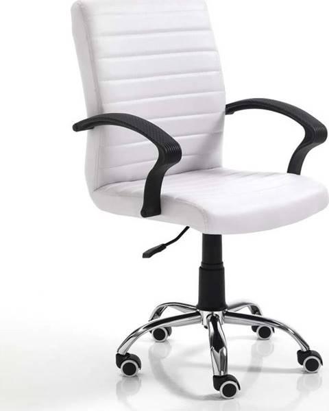 Tomasucci Bílá kancelářská židle na kolečkách Tomasucci Pany