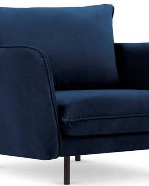 Cosmopolitan design Modré sametové křeslo Cosmopolitan Design Vienna