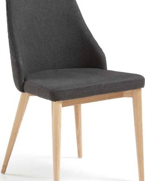 La Forma Sada 2 tmavě šedých jídelních židlí La Forma Roxie