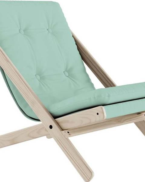 Karup Design Skládací křeslo Karup Design Boogie Natural Clear/Mint