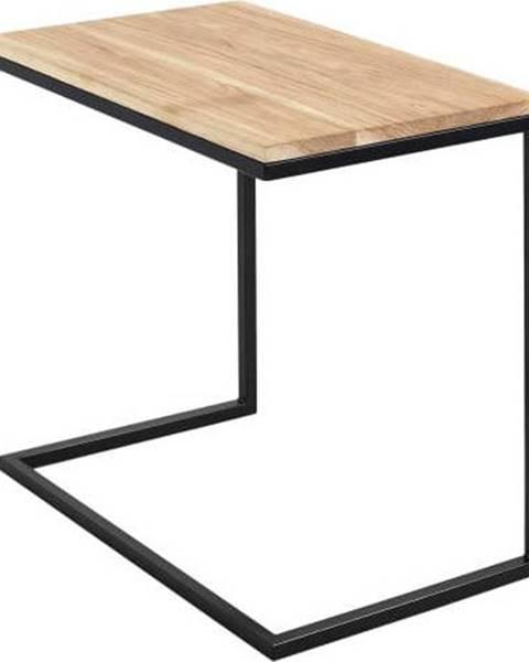 Custom Form Stůl s černým podnožím a deskou z masivního dubu Custom Form Lupe