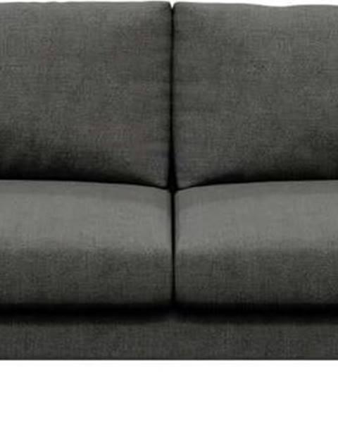 devichy Tmavě šedé pohovka Devichy Levie, 222 cm