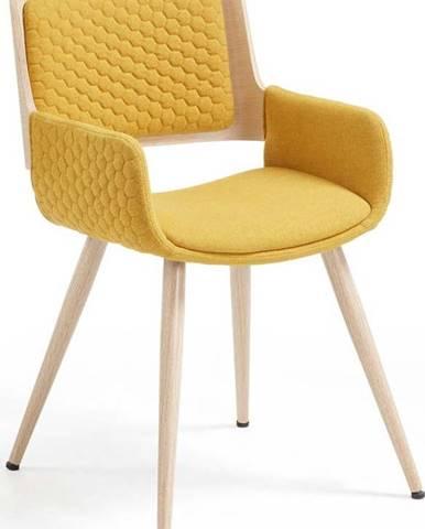 Hořčicově žlutá židle La Forma Andre