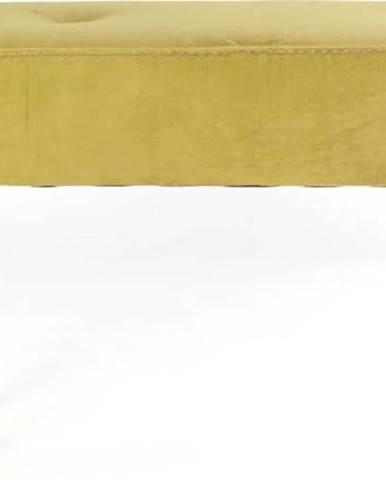 Lavice z bukového dřeva se sametovým potahem Velvet Atelier