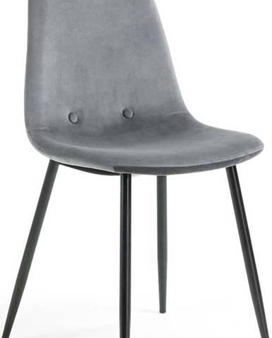 Šedá židle La Forma Lissy