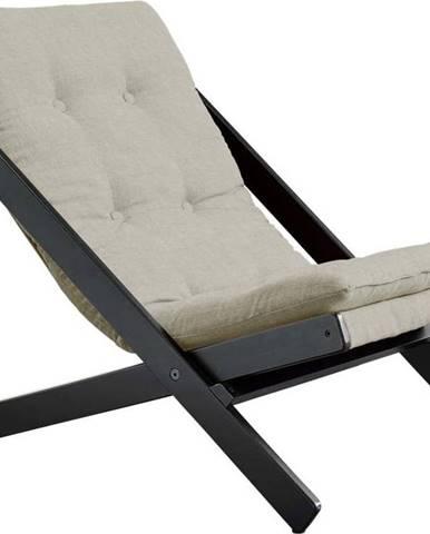Skládací křeslo Karup Design Boogie Black/Linen Beige