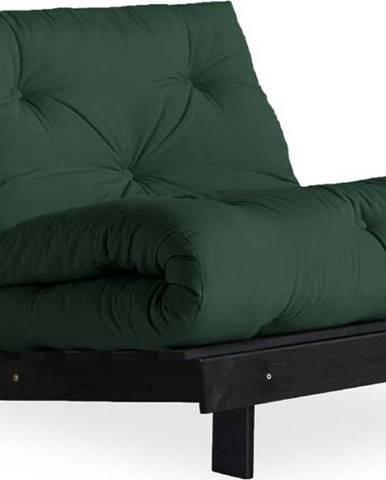 Variabilní křeslo Karup Design Roots Black/Dark Green