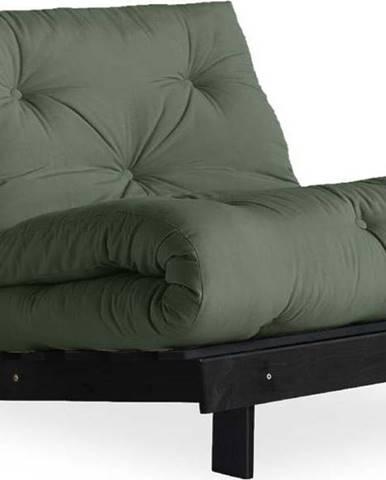 Variabilní křeslo Karup Design Roots Black/Olive Green