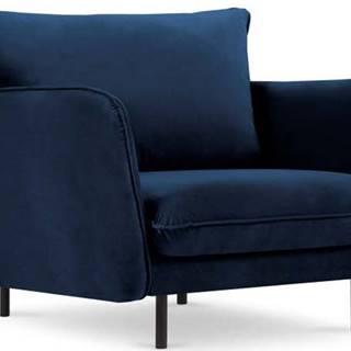 Modré sametové křeslo Cosmopolitan Design Vienna