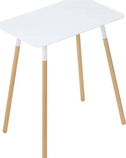YAMAZAKI Bílý odkládací stolek YAMAZAKI Plain, 45x30cm
