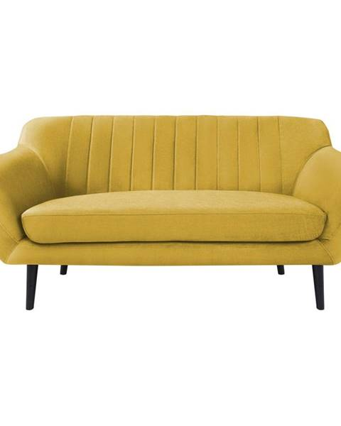 Mazzini Sofas Žlutá sametová pohovka Mazzini Sofas Toscane, 158 cm