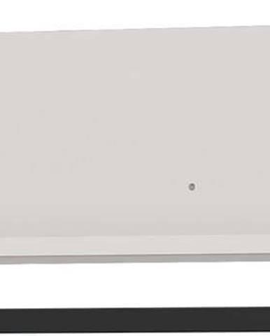 Bílá police s věšákem na kabáty Germania Madeo, šířka 76 cm