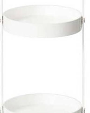Bílý dřevěný kulatý čtyřpatrový stojan Wireworks Mezza