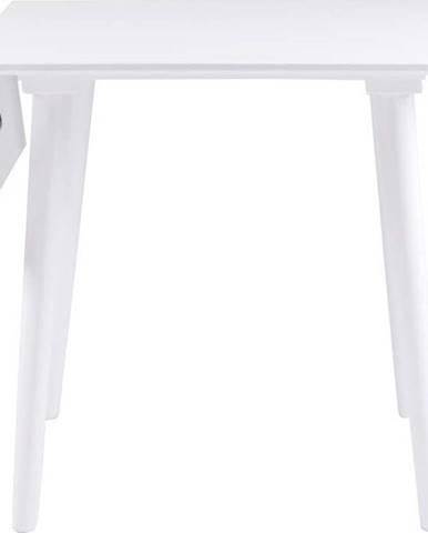 Bílý jídelní stůl Rowico Lotte Leaf, 80x80cm