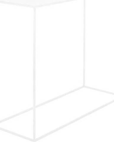 Bílý konzolový kovový stůl Custom Form Tensio, 100 x 35 cm