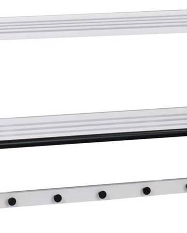 Bílý nástěnný věšák Rowico Metro Tran