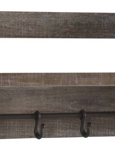 Dřevěná police s 4 háčky Geese Sencil