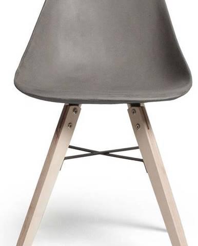 Jídelní židle s betonovým sedákem Lyon Béton Hauteville