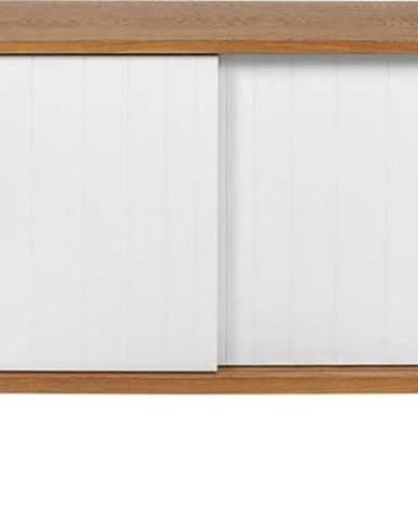 Komoda v dekoru dubového dřeva Woodman Sumire, 60 x 145 cm