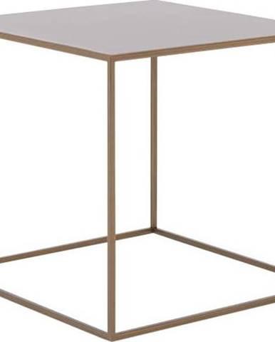 Konferenční kovový stolek ve zlaté barvě Custom Form Tensio, 50 x 50 cm