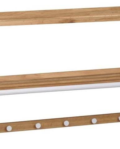 Nástěnný věšák z dubového dřeva Rowico Tran
