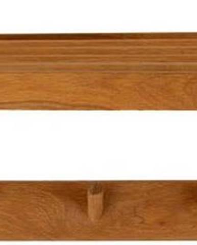 Nástěnný věšák z masivního dubového dřeva Canett Uno, délka 80cm