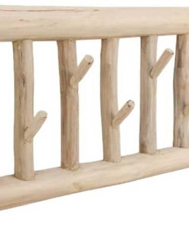 Nástěnný věšák zteakového dřeva HSM collection Teako