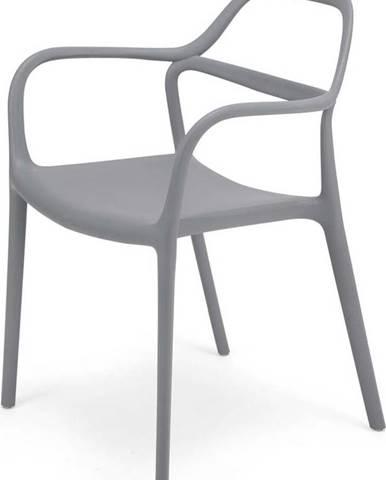 Sada 2 šedých jídelních židlí Le Bonom Dali Chaur