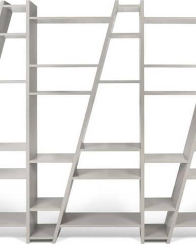 Šedá trojitá knihovna TemaHome Delta, výška 195 cm