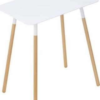 Bílý odkládací stolek YAMAZAKI Plain, 45x30cm