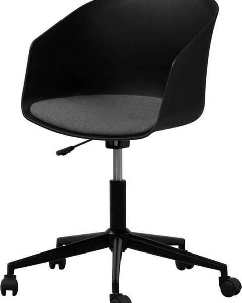 Interstil Černá kancelářská židle na kolečkách Interstil MOON