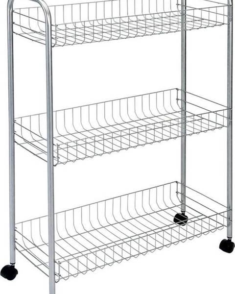 Metaltex Pojízdný stojan s 3 policemi Metaltex Ascona Slim De Luxe, výška84cm