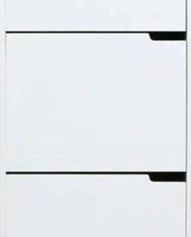 Bílý botník se 3 výklopy Actona Mitra