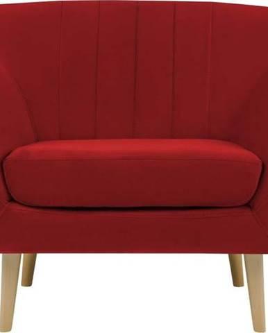 Červené sametové křeslo Mazzini Sofas Sardaigne
