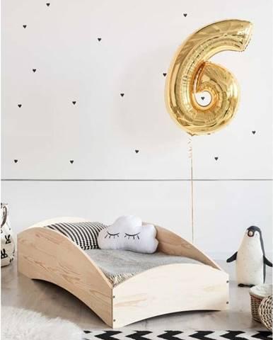 Dětská postel z borovicového dřeva Adeko BOX 6, 100x200 cm