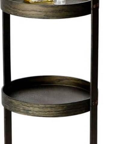 Dřevěný stojan do koupelny z dubového dřeva Wireworks Round Caddy Dark, 3police