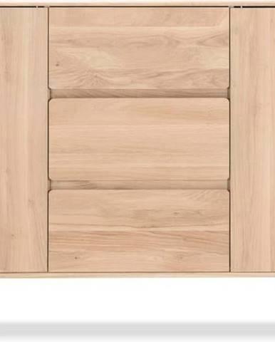 Komoda z masivního dubového dřeva se 3 zásuvkami Gazzda Fawn, šířka180cm