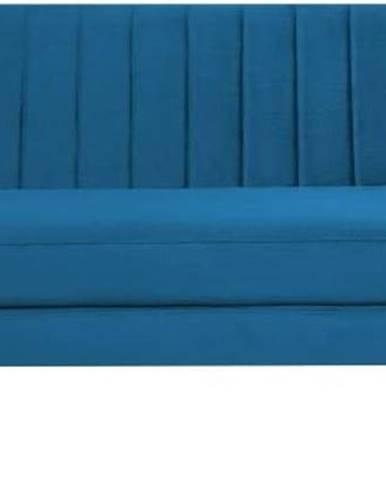 Modrá sametová pohovka Mazzini Sofas Benito, 188 cm