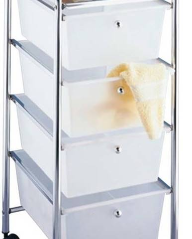Pojízdný koupelnový regál se 4 zásuvkami Wenko Messina